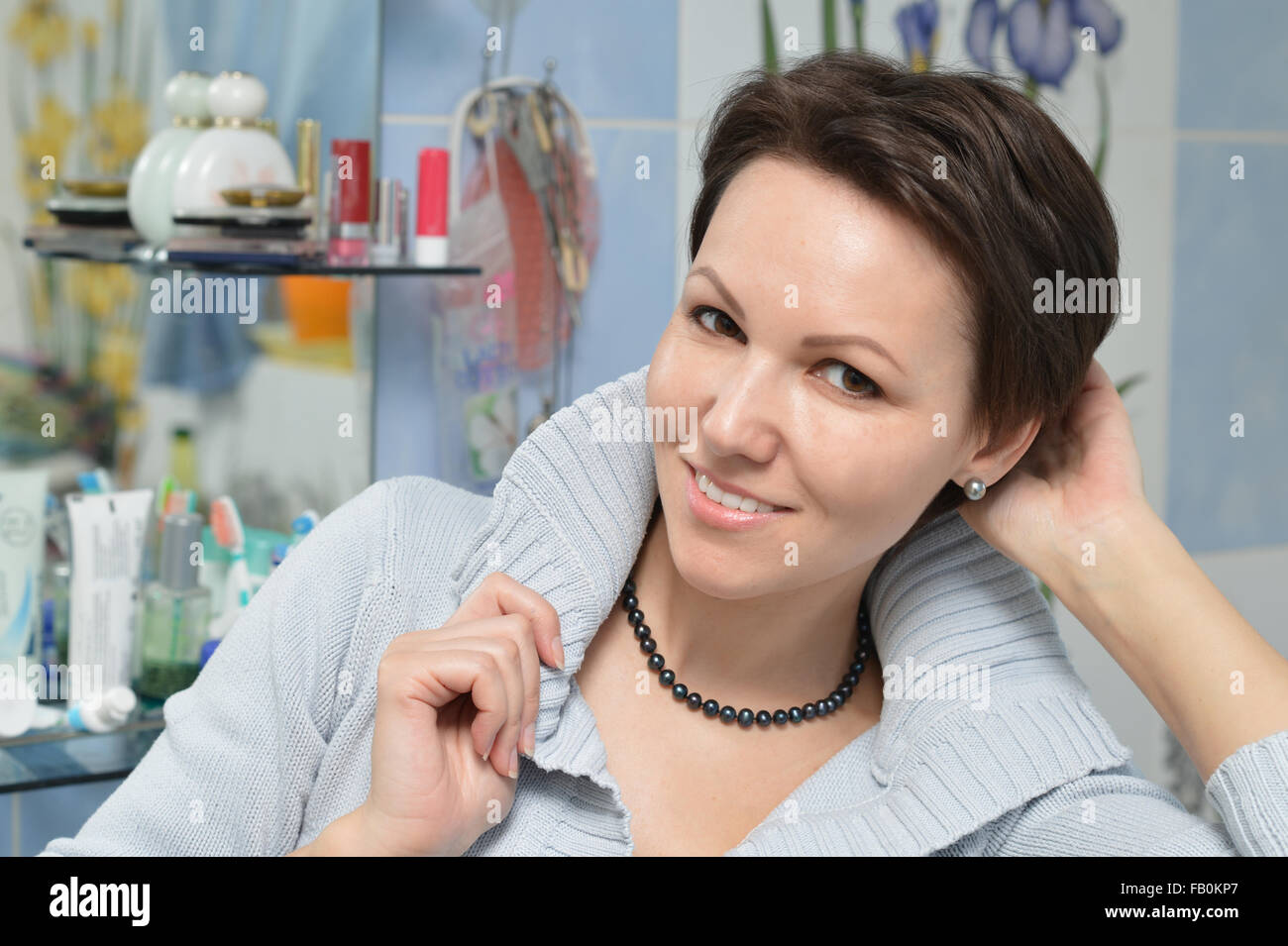 attractive young woman - Stock Image