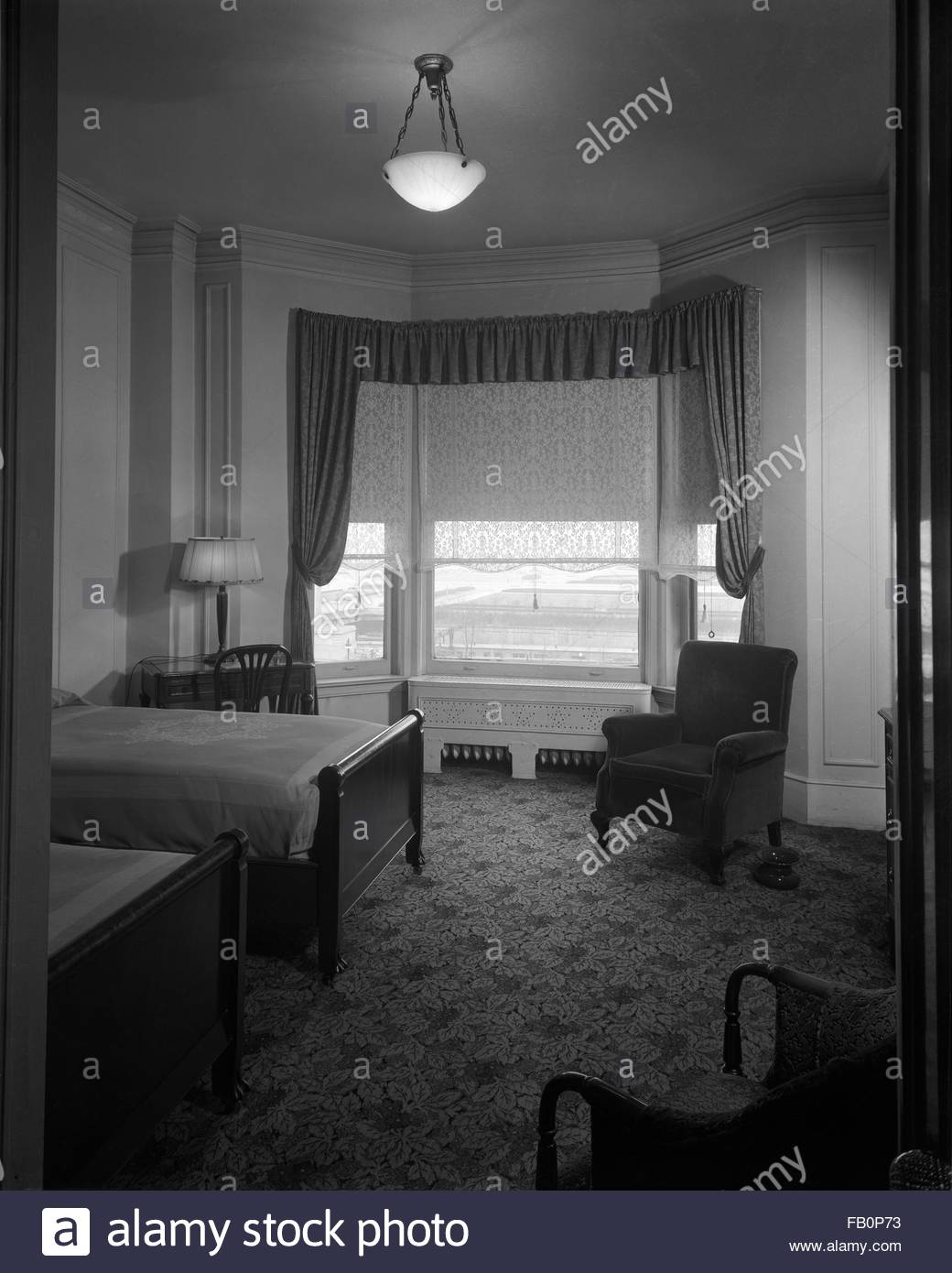 Modern house interior at Marshall Field and Company, 1936 Apr. 15. - Stock Image