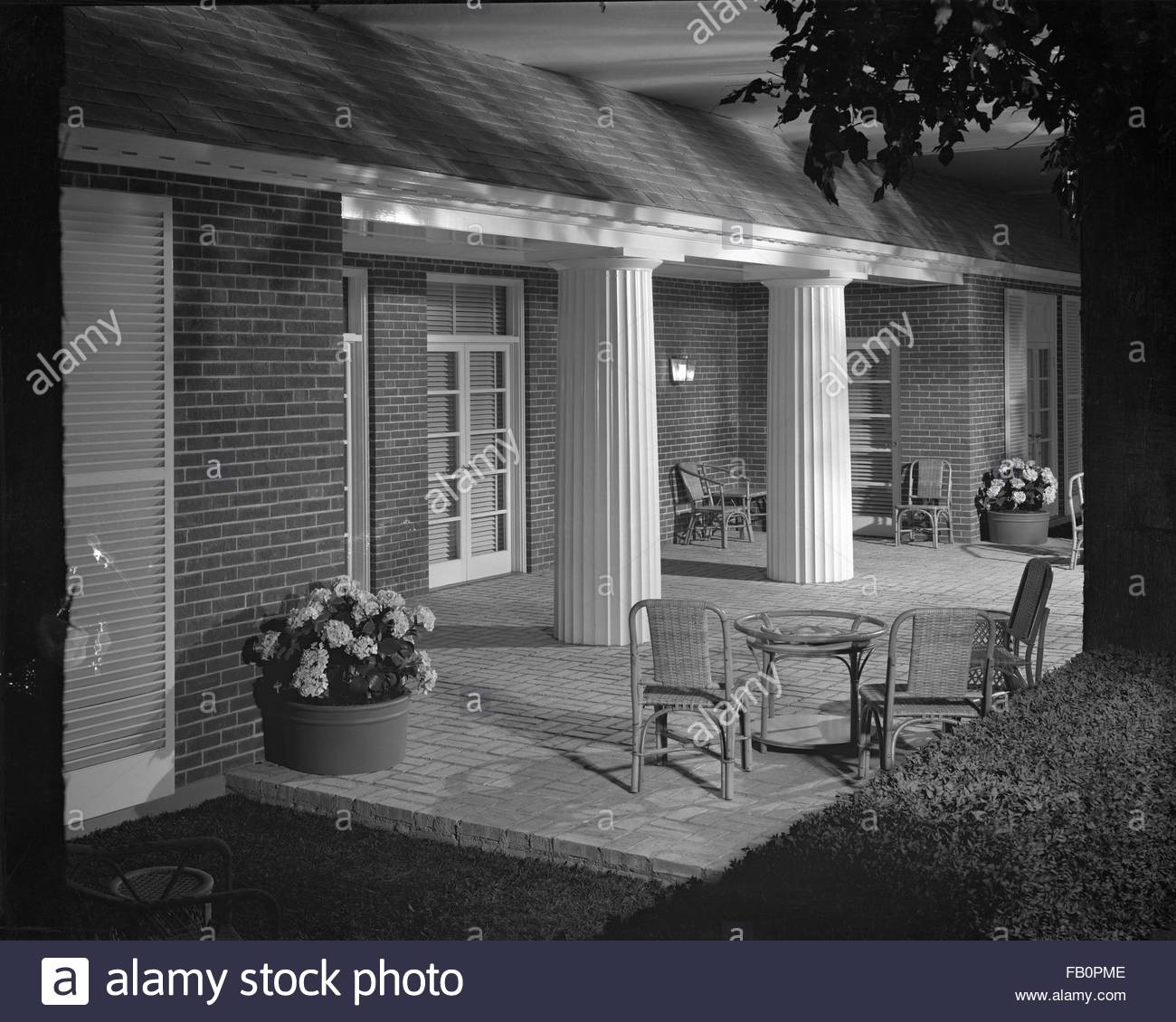 Modern house display at marshall field and company 1937 apr 30 exterior porch