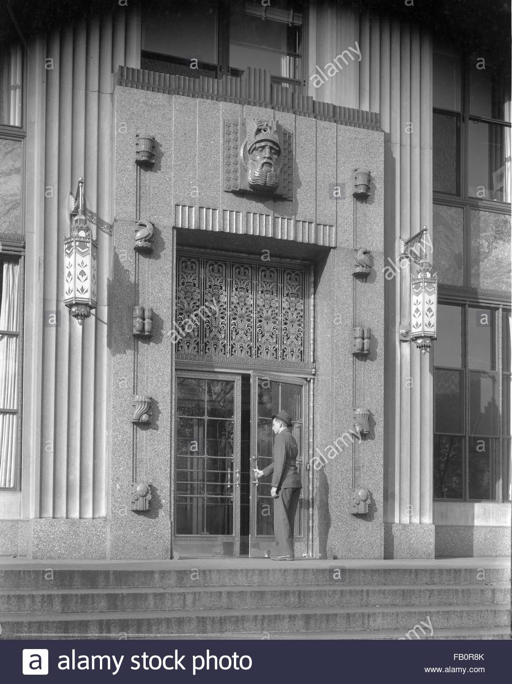 Industrial buildings in Detroit and Lansing (Mich.), 1938 Oct. 6. Exterior, Kresge Administrative Building, SS Kresge - Stock Image