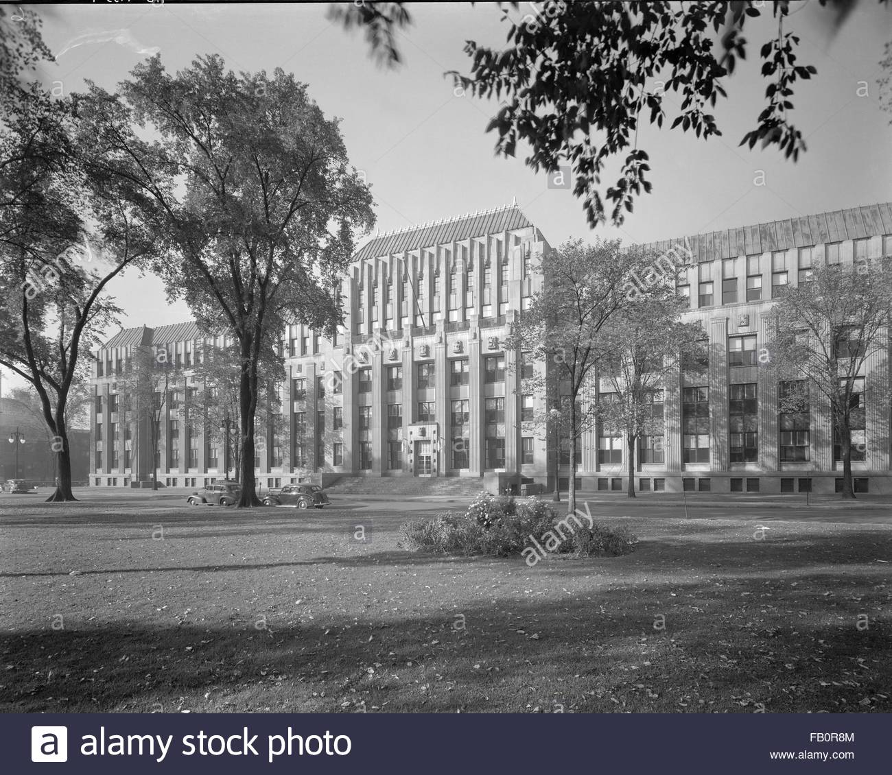 Industrial buildings in Detroit and Lansing (Mich.), 1938 Oct. 6. Exterior, Kresge administrative building. - Stock Image
