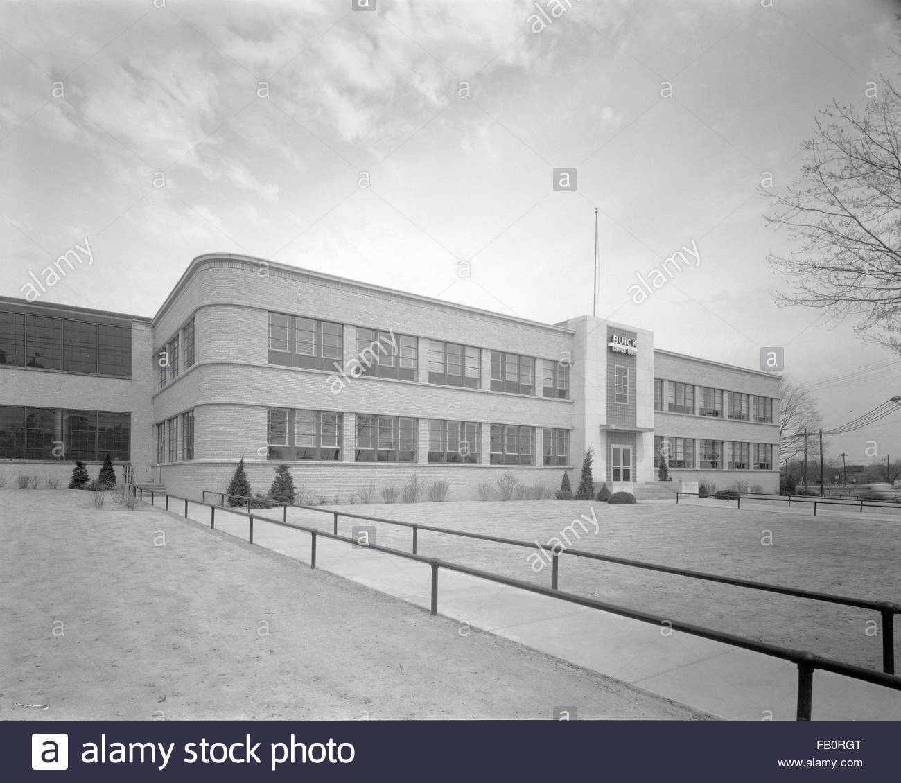 Buick Motor plant in Flint (Mich.), 1939 Dec. 27. Exterior, perspective view. - Stock Image