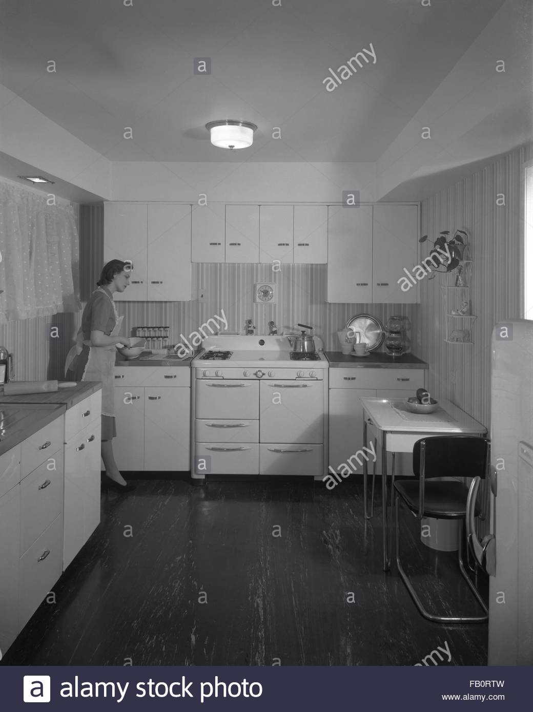 Modern house display at marshall field and company 1940 mar 26 kitchen