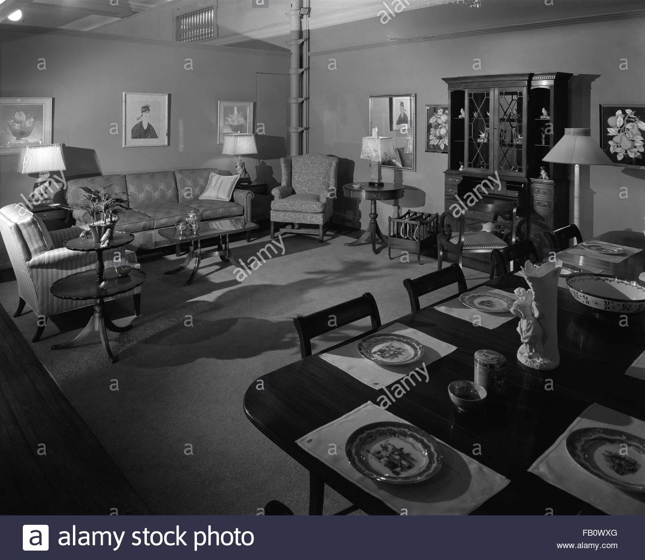 Marshall Fields Furniture: Living Heritage Company Black And White Stock Photos