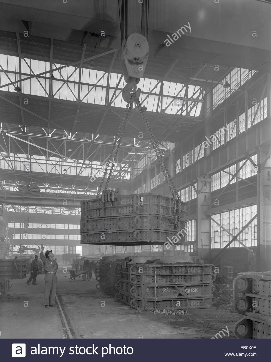 American Steel Foundries plant in East Chicago (Ill ), 1943