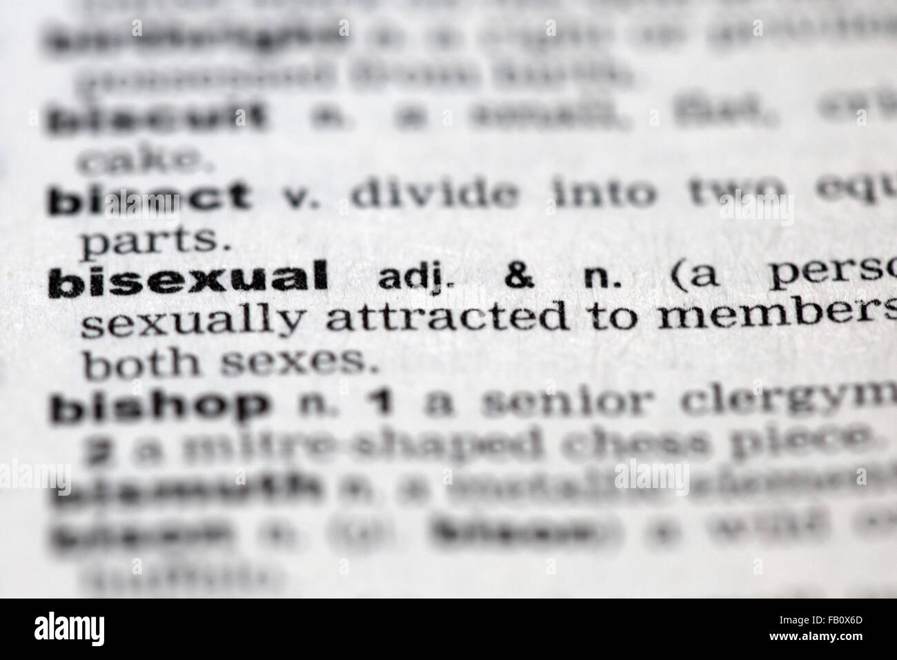 Dictionary details - Stock Image