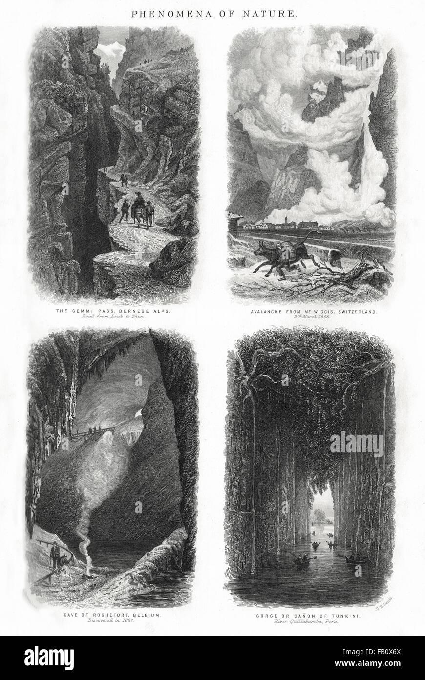 Phenomena of Nature circa 1874 - Stock Image