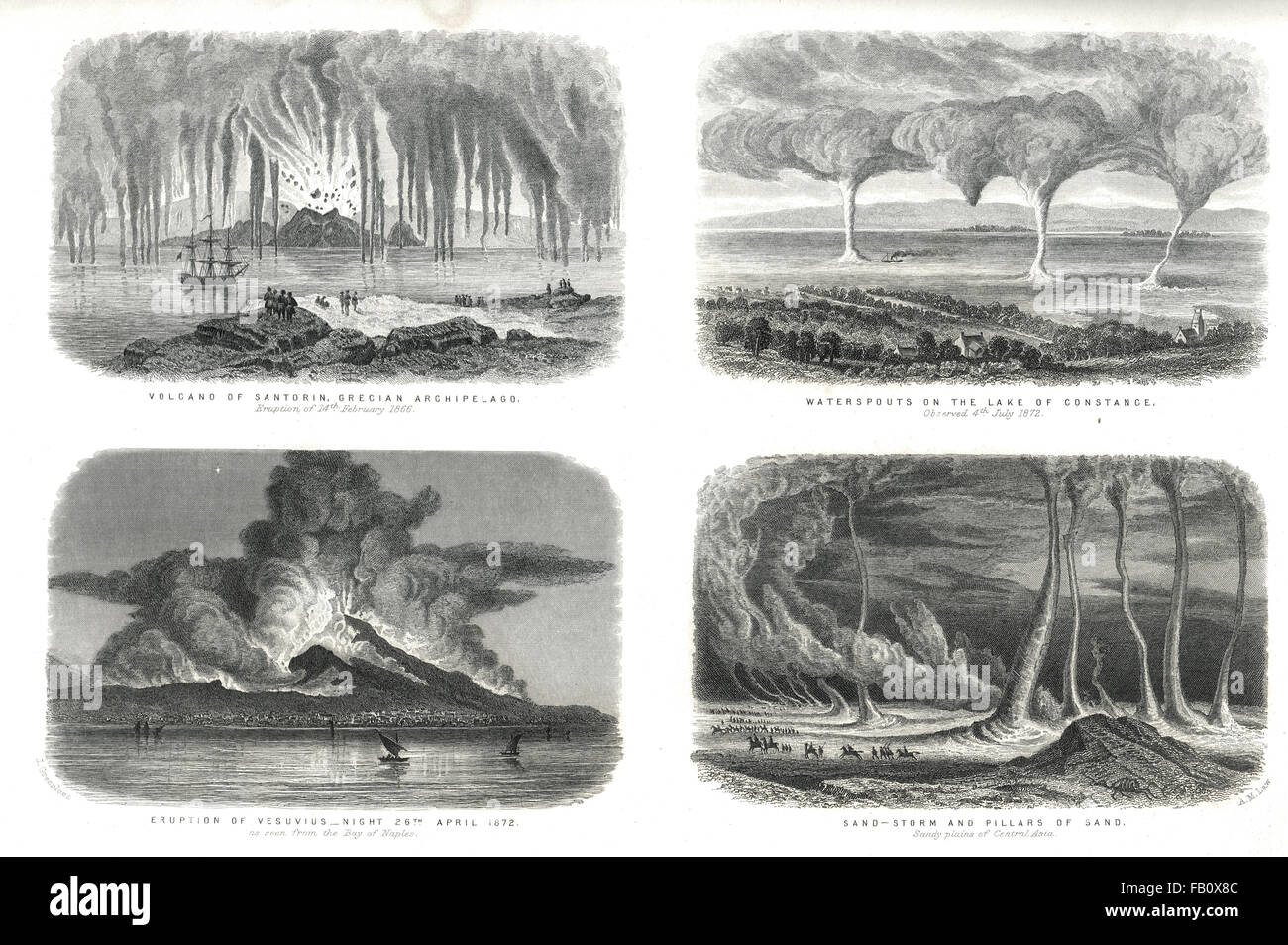 Phenomena of Nature 2 circa 1874 - Stock Image