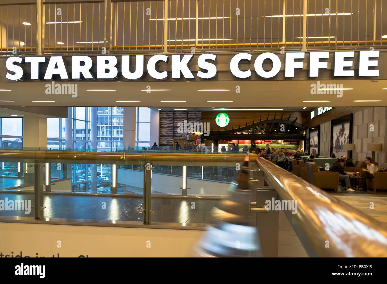 Dh Starbucks Cafe Coffee Shop Uk Modern Shopping Centre Mall Stock Photo Alamy