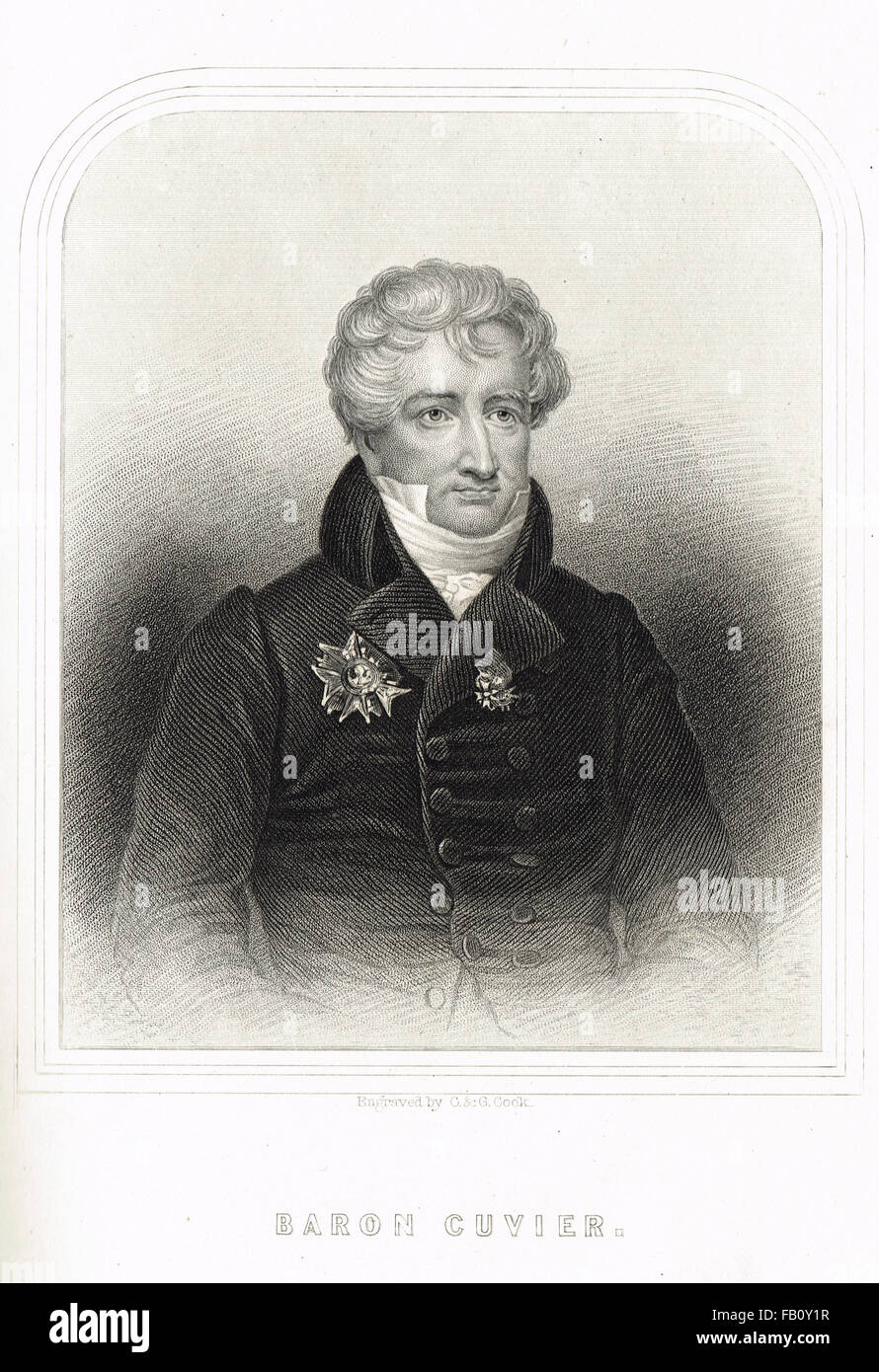Baron Georges Cuvier 1769-1832 French Zoologist & Naturalist (Known as the Father of Paleontology) - Stock Image