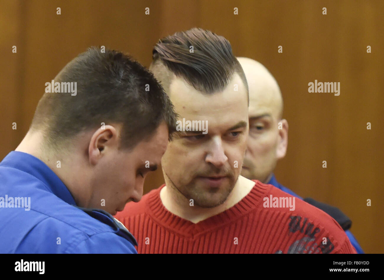 Ostrava, Czech Republic. 07th Jan, 2016. Czech Petr Kramny, 37, was convicted of murder of his wife, 36, and daughter, - Stock Image