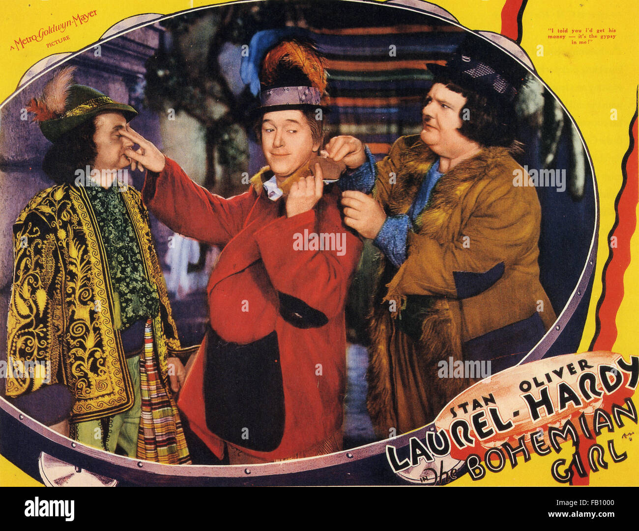 THE BOHEMIAN GIRL 1936 MGM film with Laurel and Hardy - Stock Image