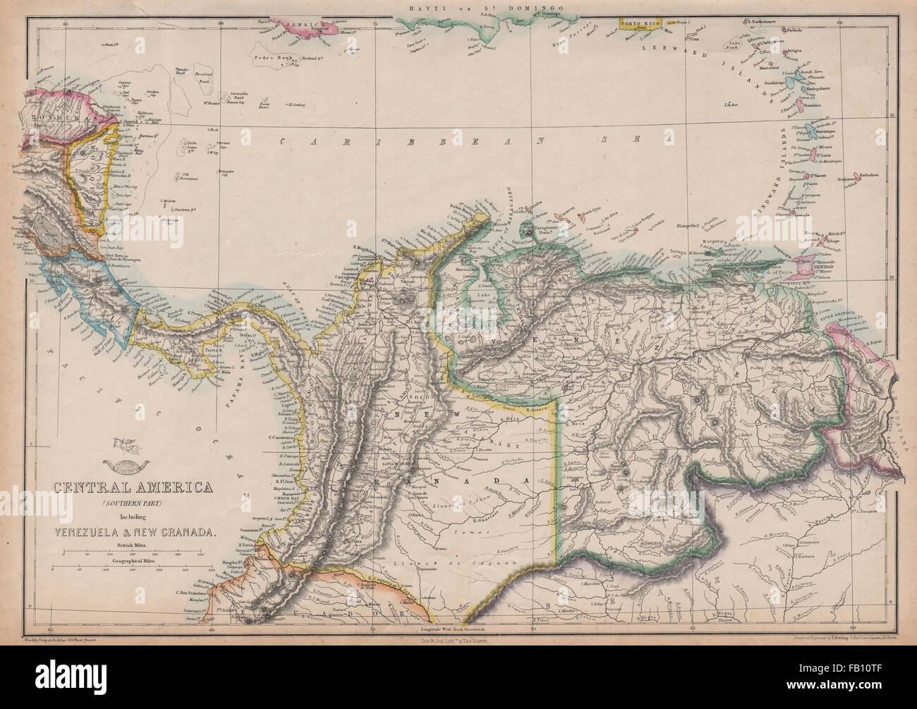 SOUTHERN CENTRAL AMERICA. Mosquito New Granada Venezuela ... on america map panama, america map colorado, america map grenada, america map spain, america map mississippi, america map el salvador, america map uruguay, america map arizona, america map italy, america map brazil, america map jamaica, america map bahamas, america map georgia, america map texas, america map honduras, america map north america, america map philippines, america map canada,
