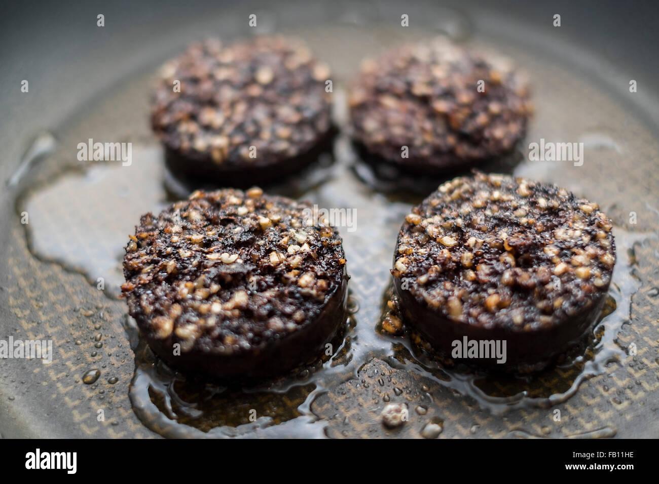 A Black Pudding sausage - Stock Image
