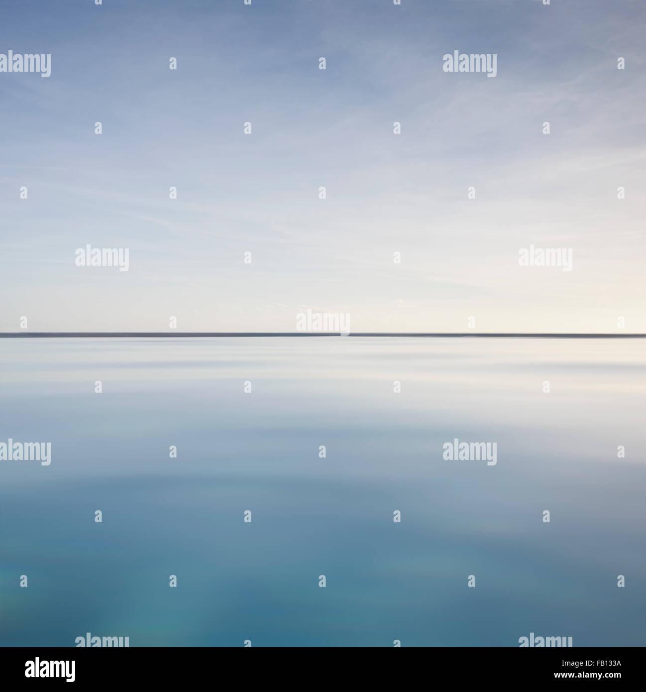 Scenic view of calm sea - Stock Image