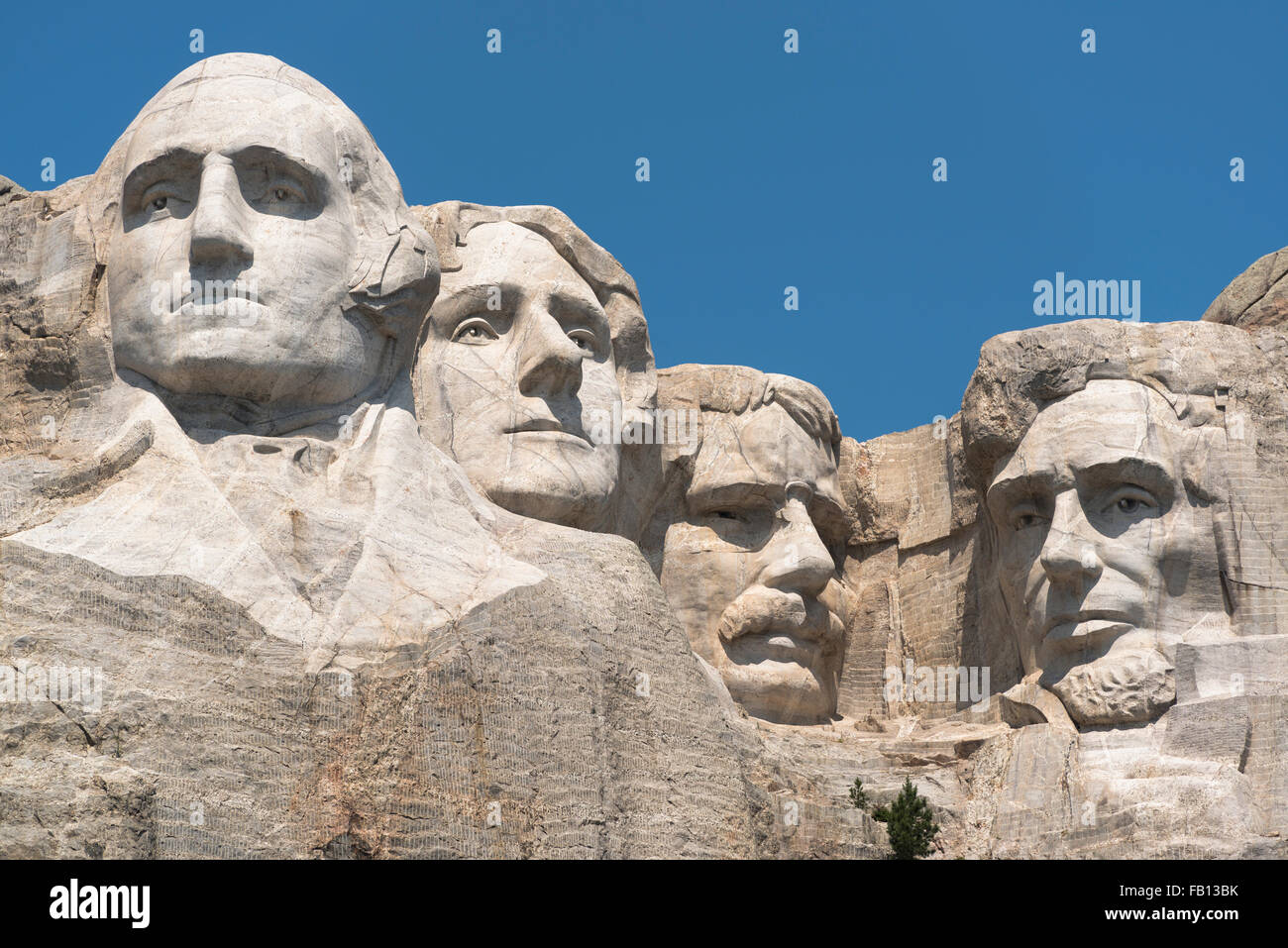 Mount Rushmore against clear sky Stock Photo