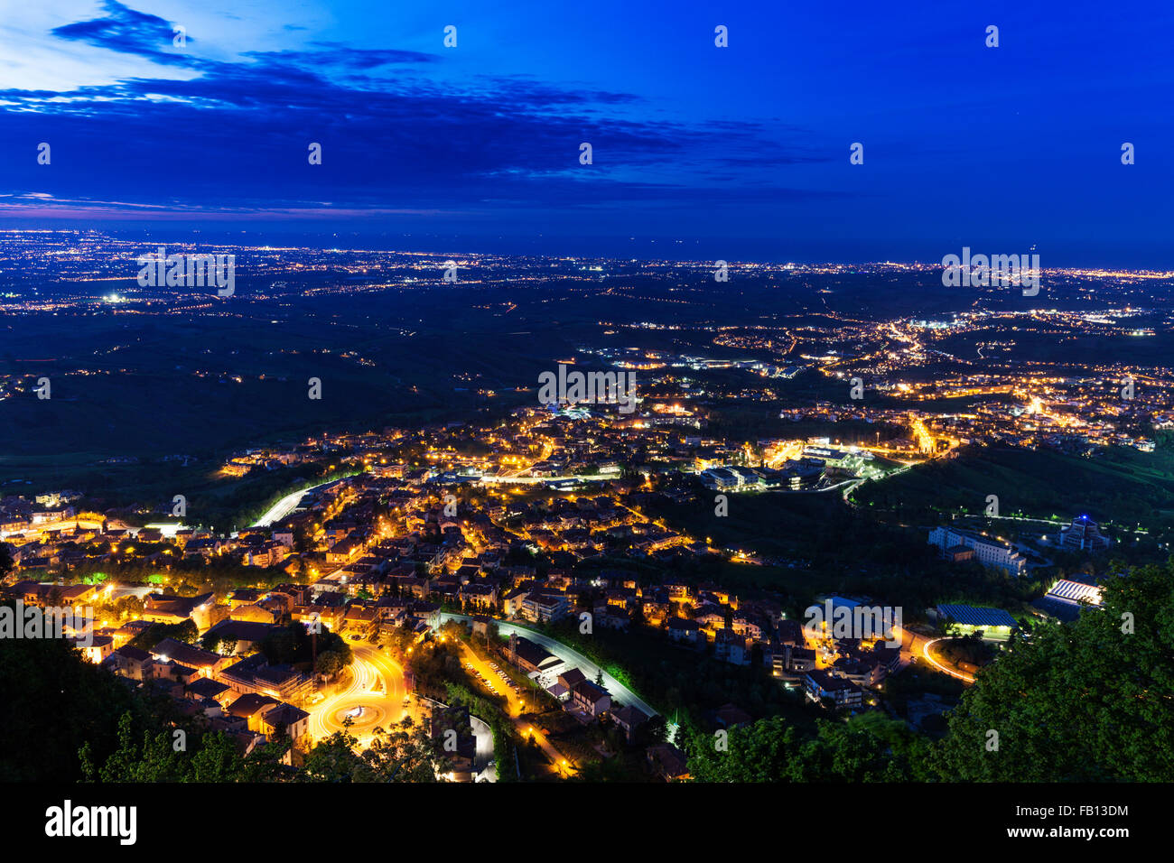 Townscape at night - Stock Image