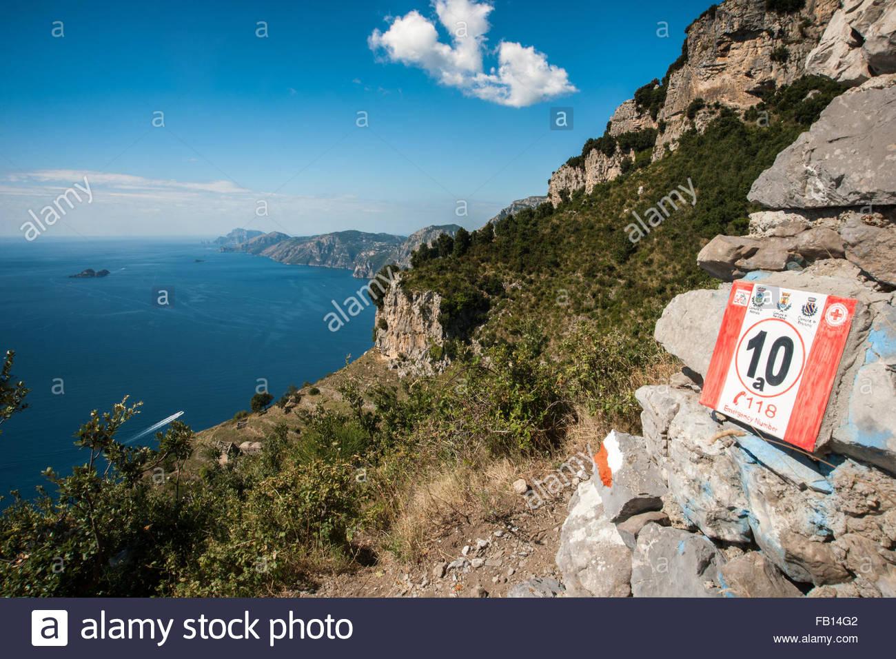 path of the gods,the Amalfi Coast,the Sorrento peninsula,agerola,Italy - Stock Image
