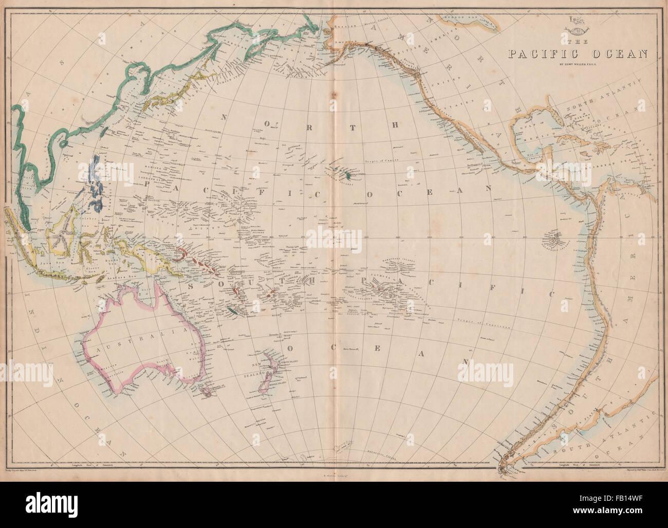 Pacific ocean sandwich islandshawaii australia new zealand c stock pacific ocean sandwich islandshawaii australia new zealand c weller 1862 map gumiabroncs Gallery