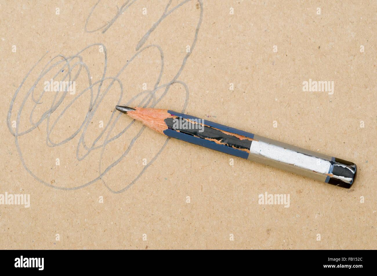 pencil scribble - Stock Image