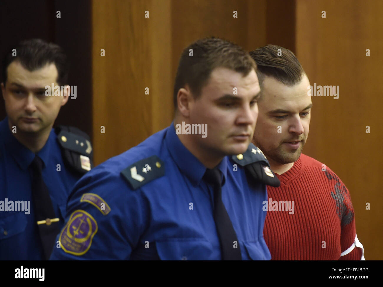 Czech Petr Kramny, 37, was convicted of murder of his wife, 36, and daughter, 8, during their holiday in Egypt in - Stock Image