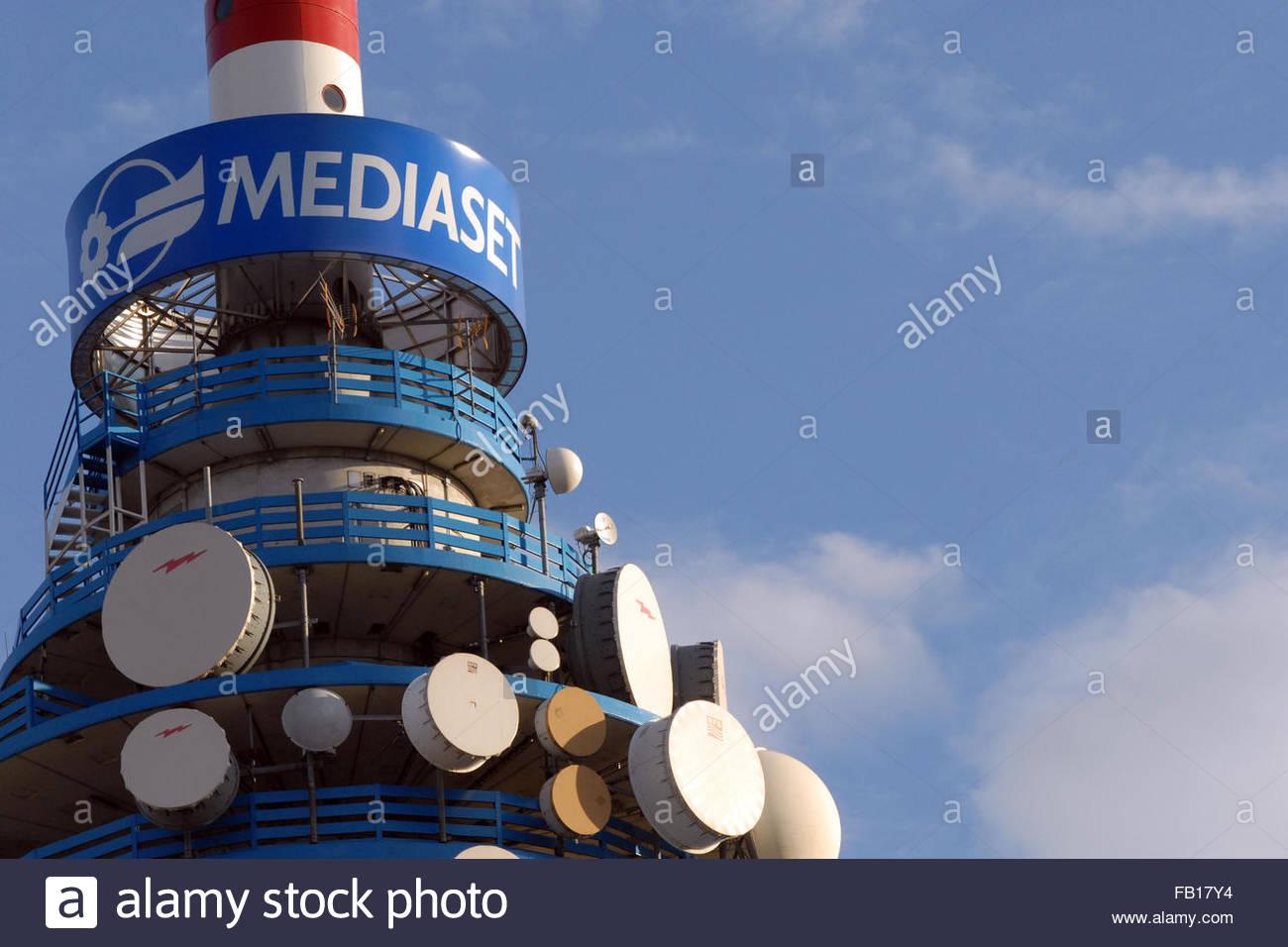 repeater mediaset - Stock Image