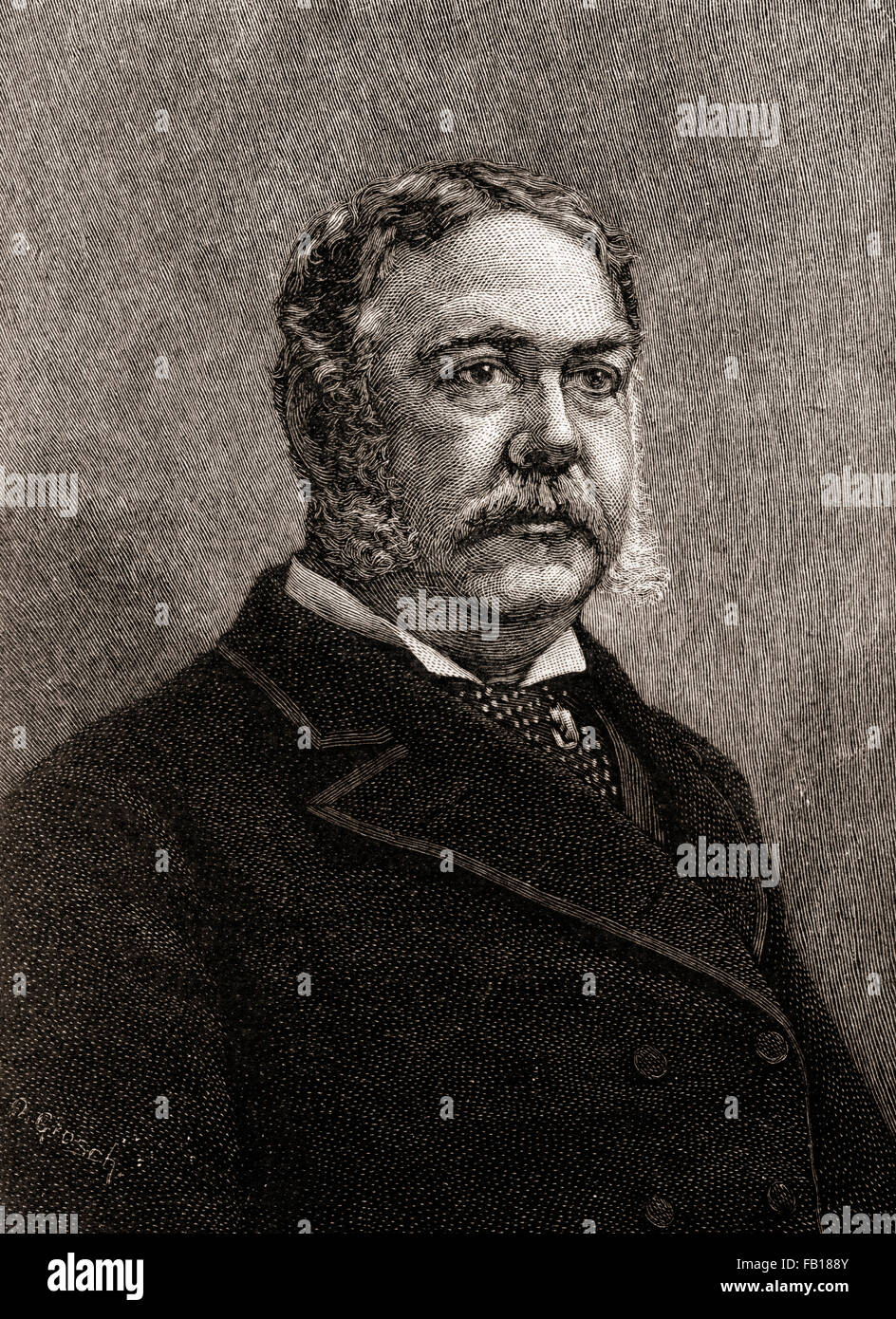Chester Alan Arthur, 1829 –1886.  American attorney, politician and 21st President of the United States of America. - Stock Image