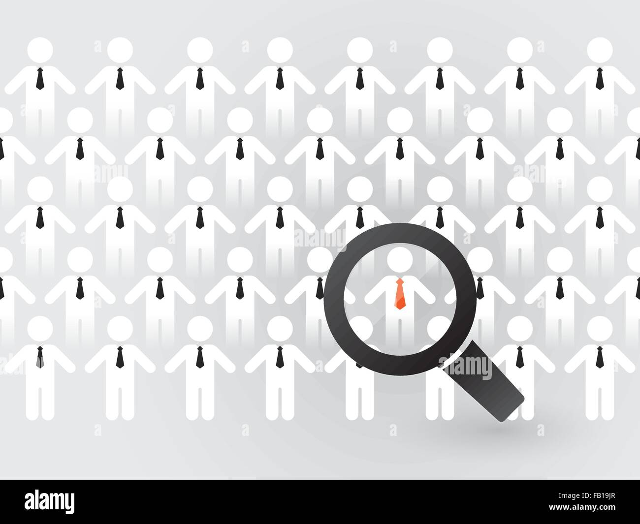 search for suitable employees - Stock Vector