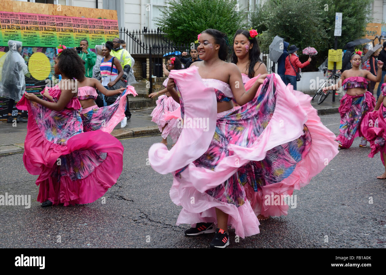 Dancers Notting Hill, London, England. - Stock Image