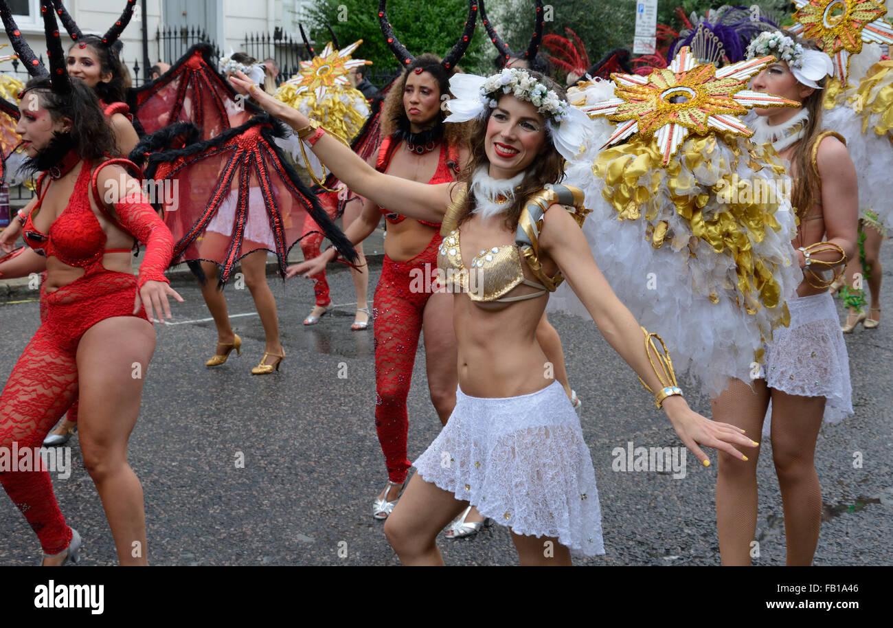 Notting Hill Carnival, London 2015, England. - Stock Image
