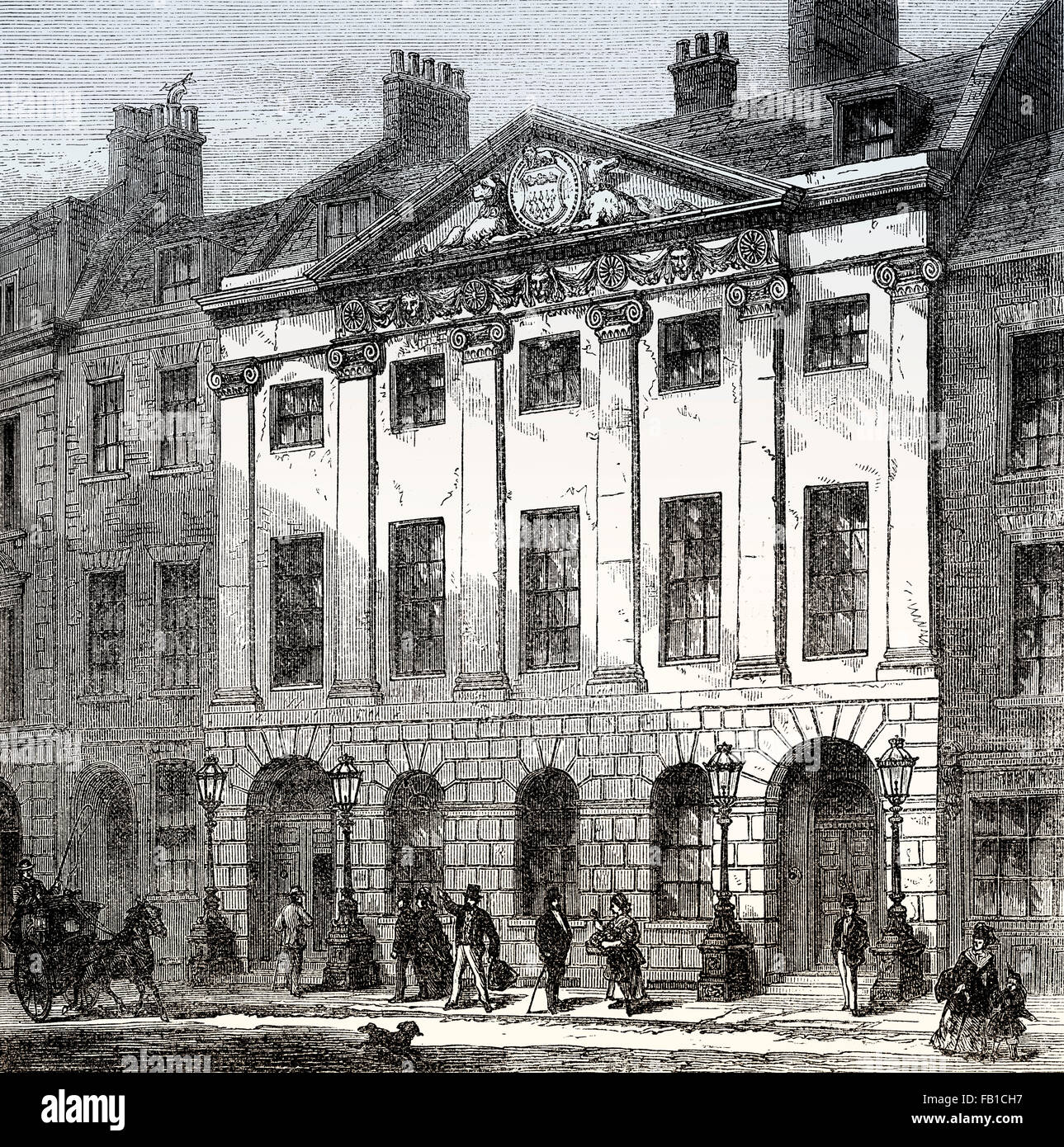 Skinners' Hall, Dowgate Hill, City of London, The Worshipful Company of Skinners, 19th century - Stock Image