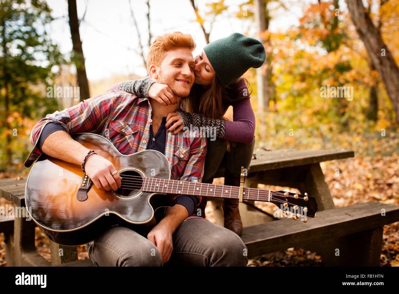 Romantic Couple With Guitar Stock Photos Amp Romantic Couple