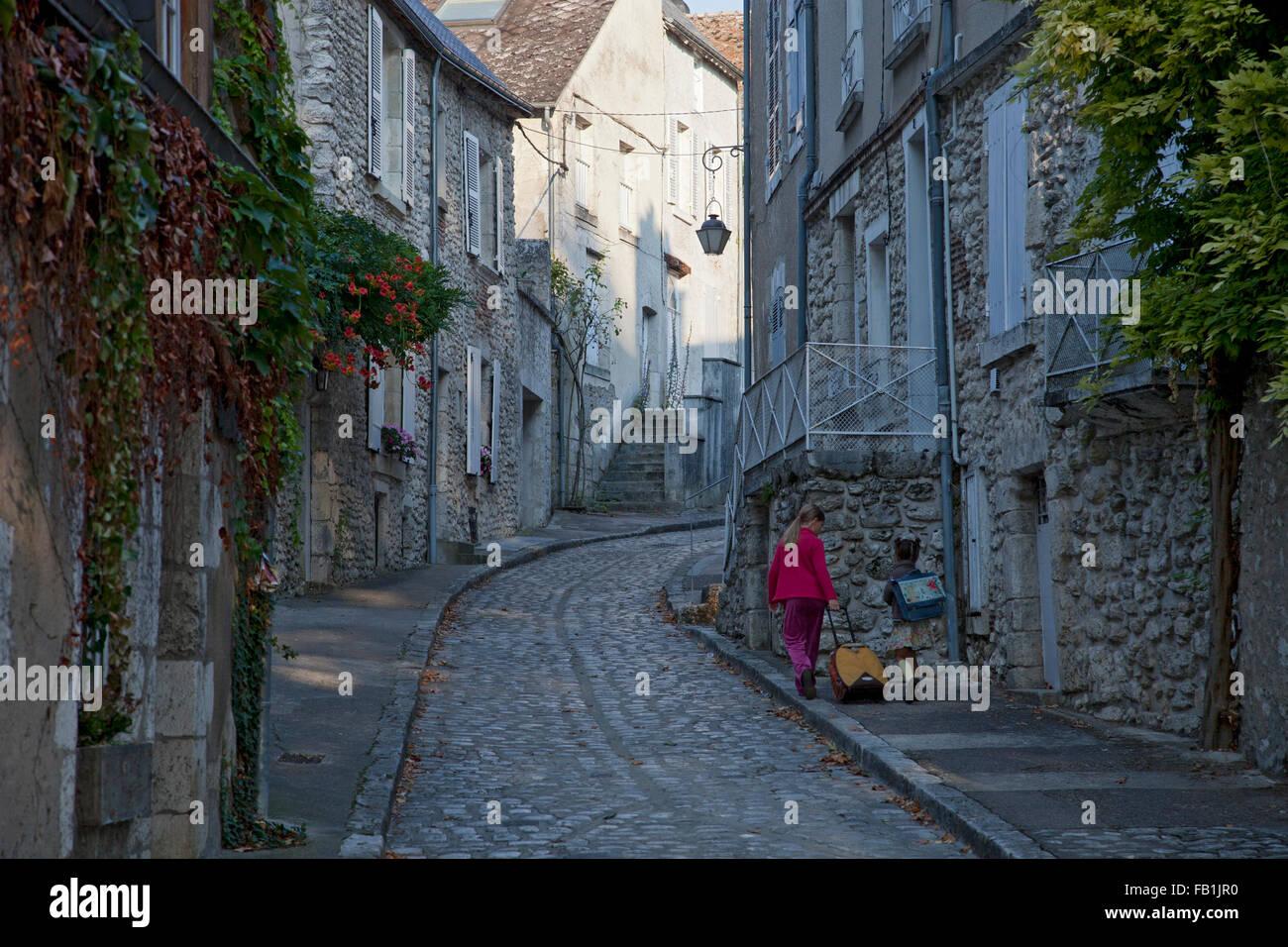 Beaugency schoolchildren, Loire, France - Stock Image