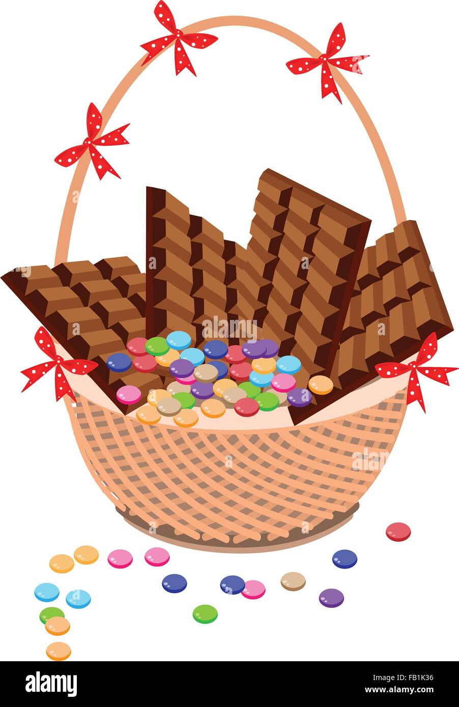 Sweet Food Illustration Of Of Milk Chocolate And Chocolates Bar On