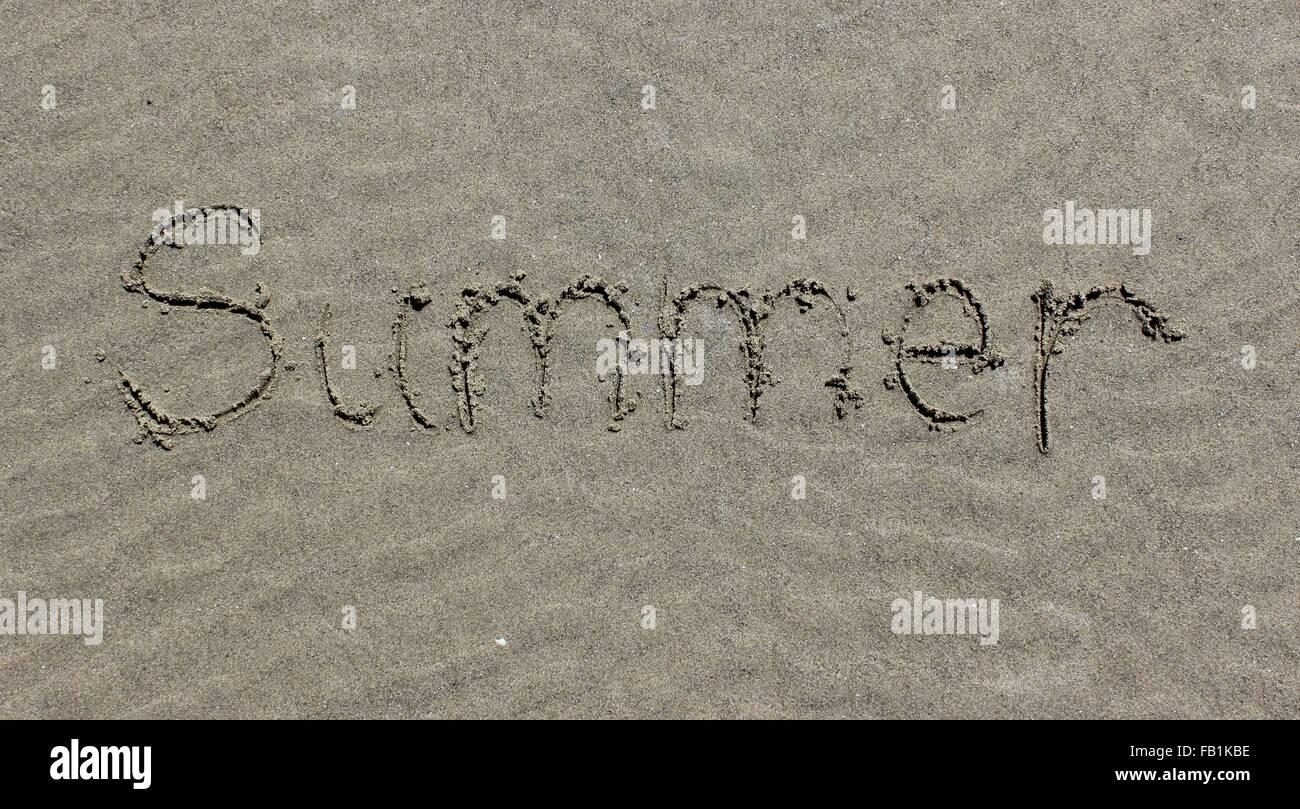 Summer Sand - Stock Image