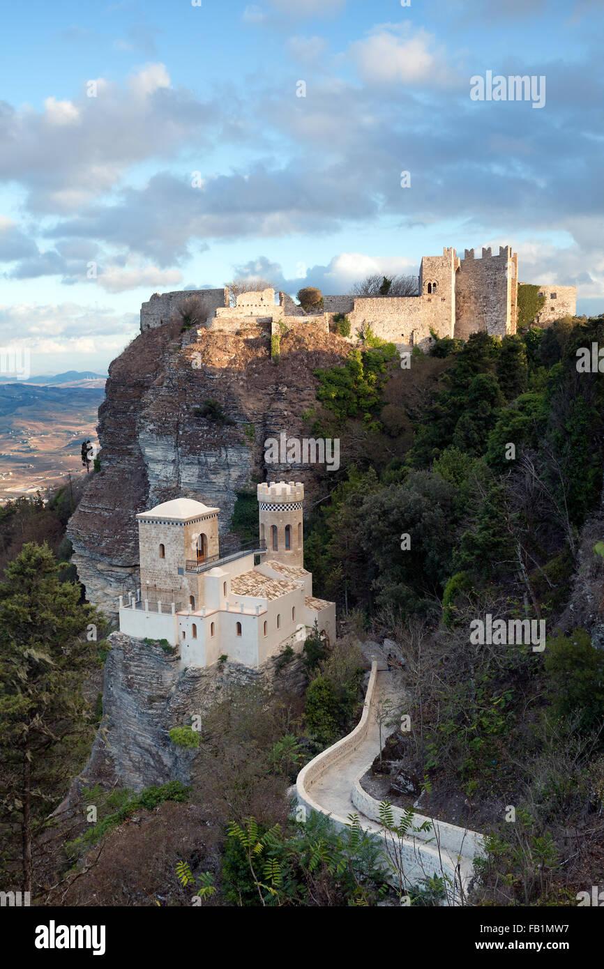 Castles of Erice, Sicily - Stock Image