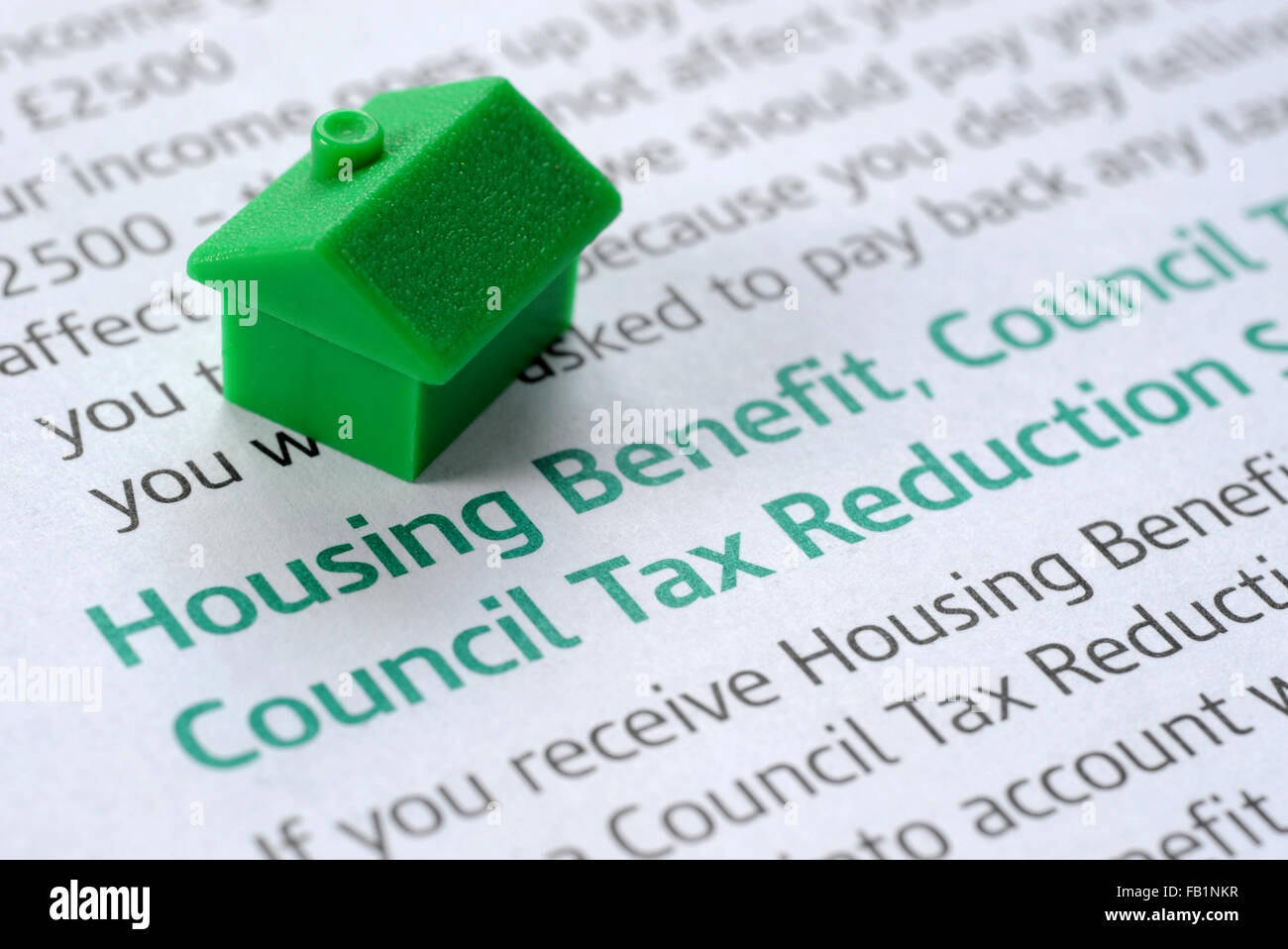 HOUSING BENEFIT INFORMATION LEAFLET WITH MODEL HOUSE RE BENEFITS ...