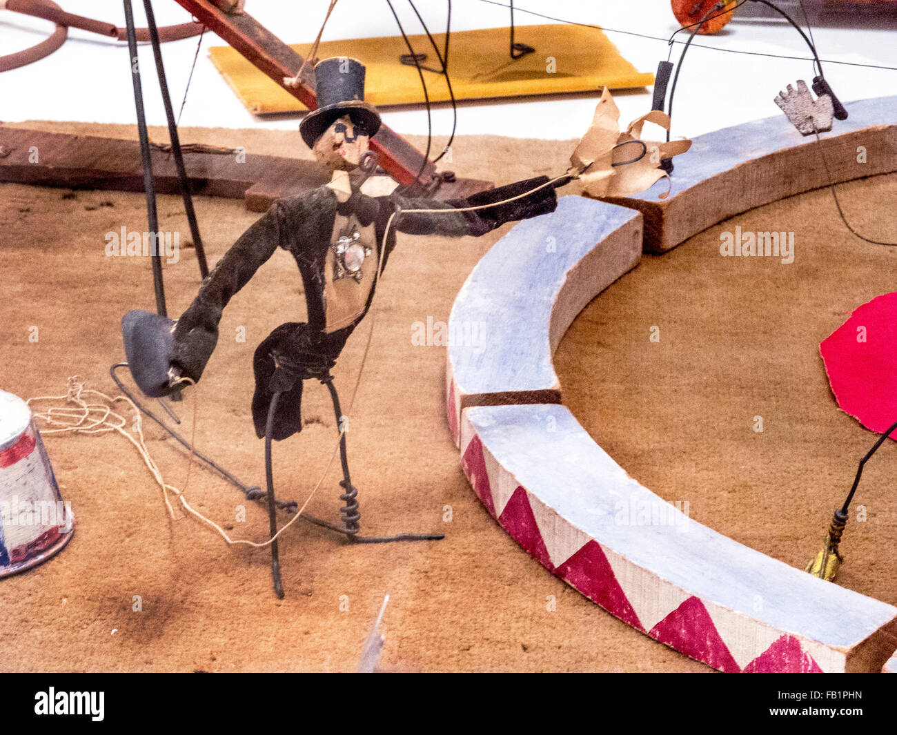 Located at the Whitney Museum in New York City, the Cirque Calder (1926–31) is an artistic rendering of a circus - Stock Image