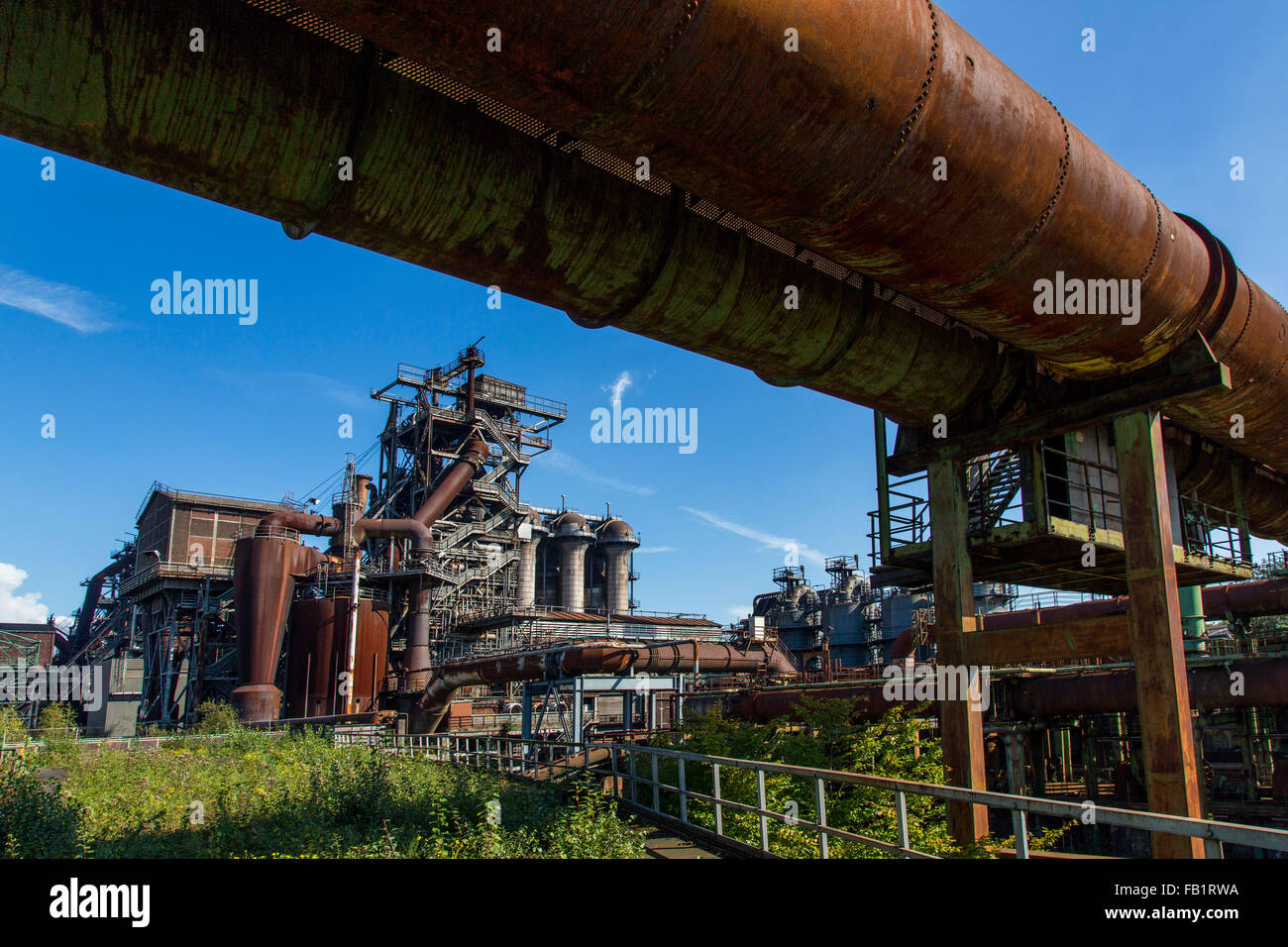 Old steelworks in Duisburg Meidrich, Germany, today a museum, industrial landscape park, route of industrial heritage, - Stock Image
