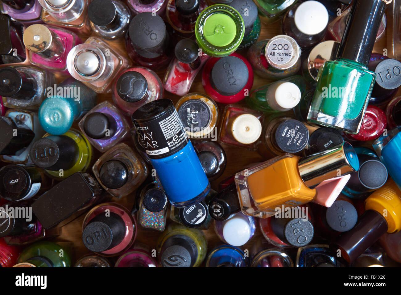 Nail varnish bottles - Stock Image