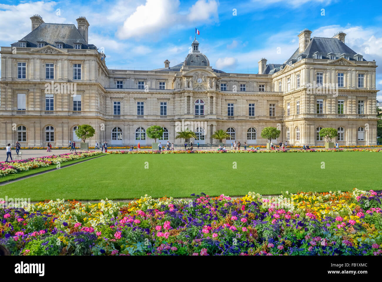 PARIS,FRANCE.  Summer day in the Luxemburg garden  in Paris. - Stock Image