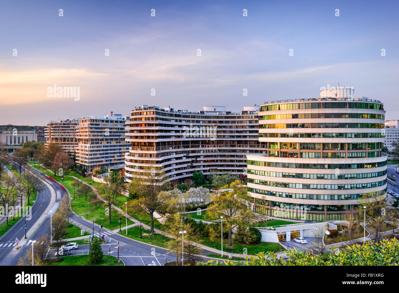 The Watergate Complex in Foggy Bottom, Washington DC, USA. - Stock Image