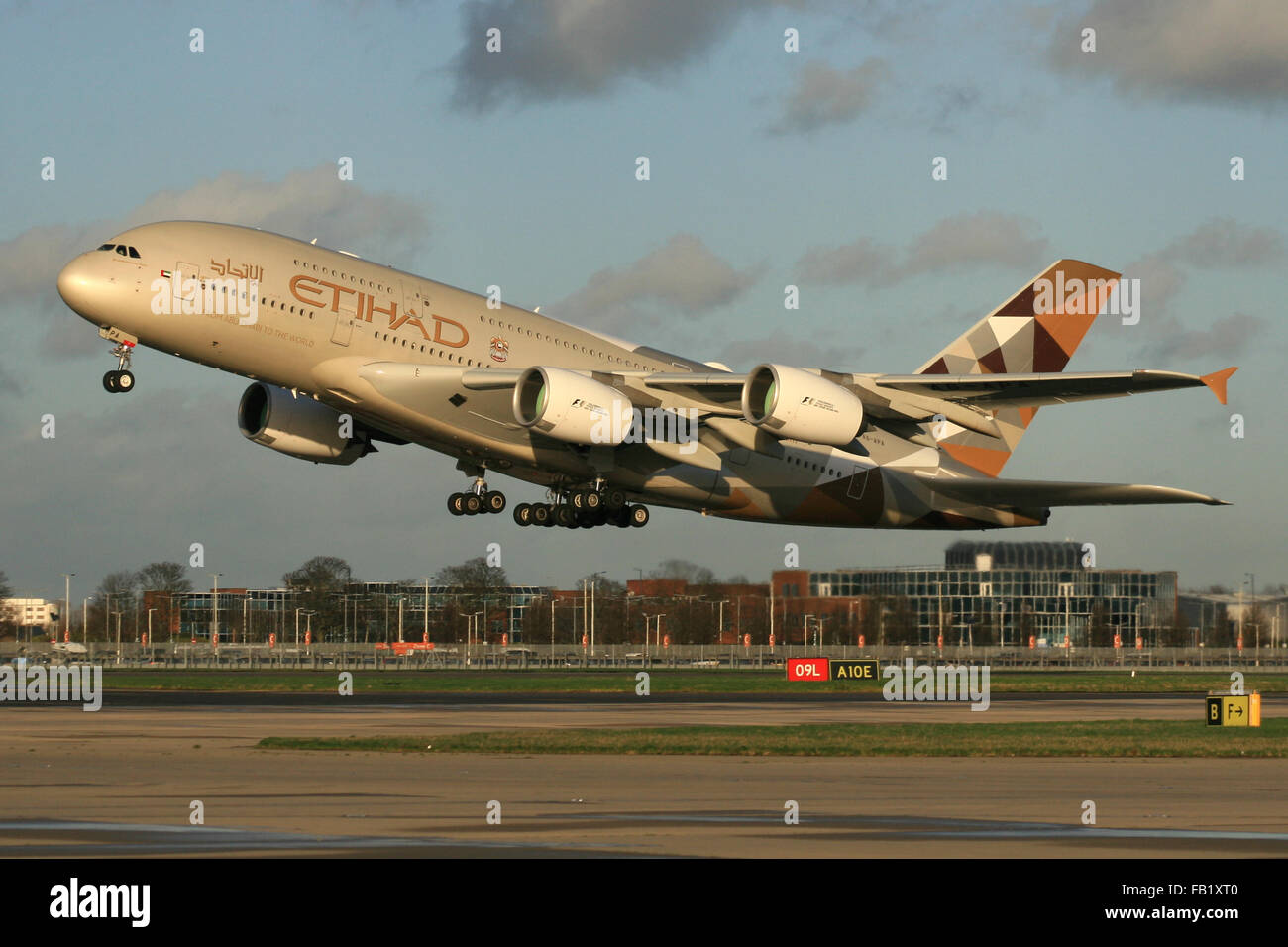 etihad a380 - Stock Image