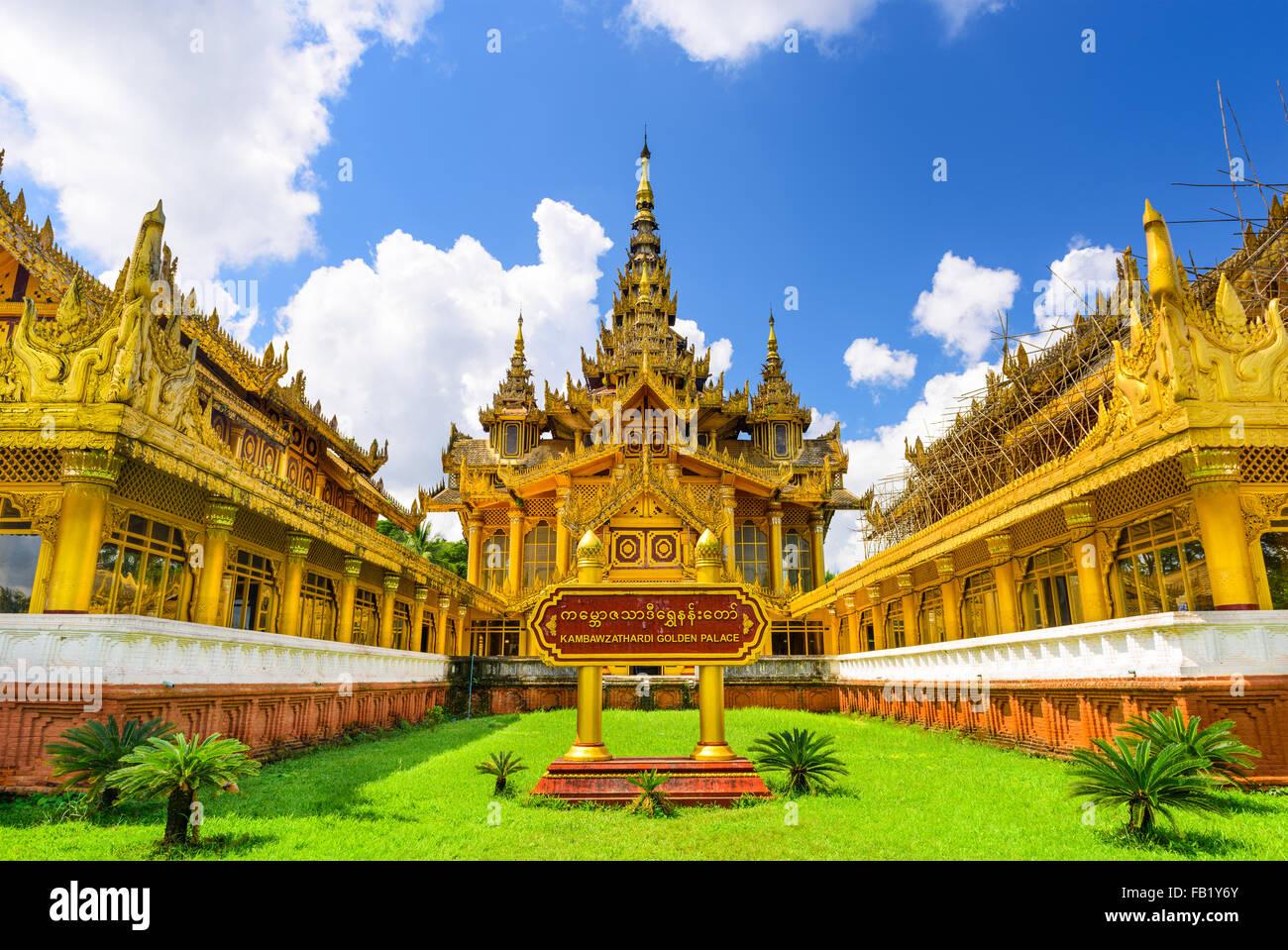 Bago, Myanmar at Kambawzathardi Golden Palace. Stock Photo