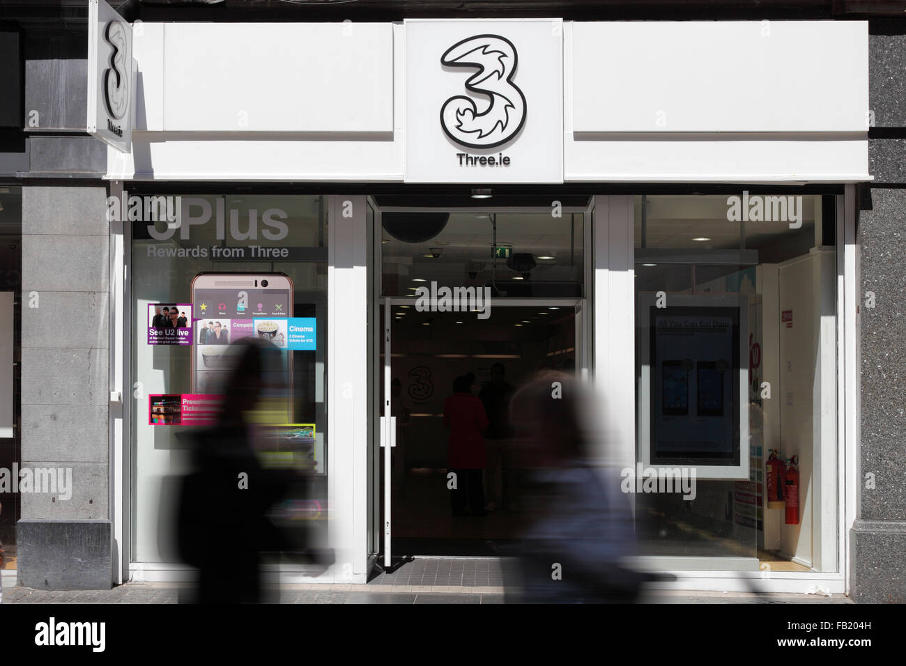 Three shop in Dublin, Ireland - Stock Image
