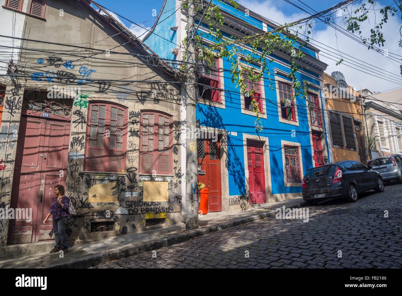 Santa Teresa neighbourhood, Rio de Janeiro, Brazil - Stock Image