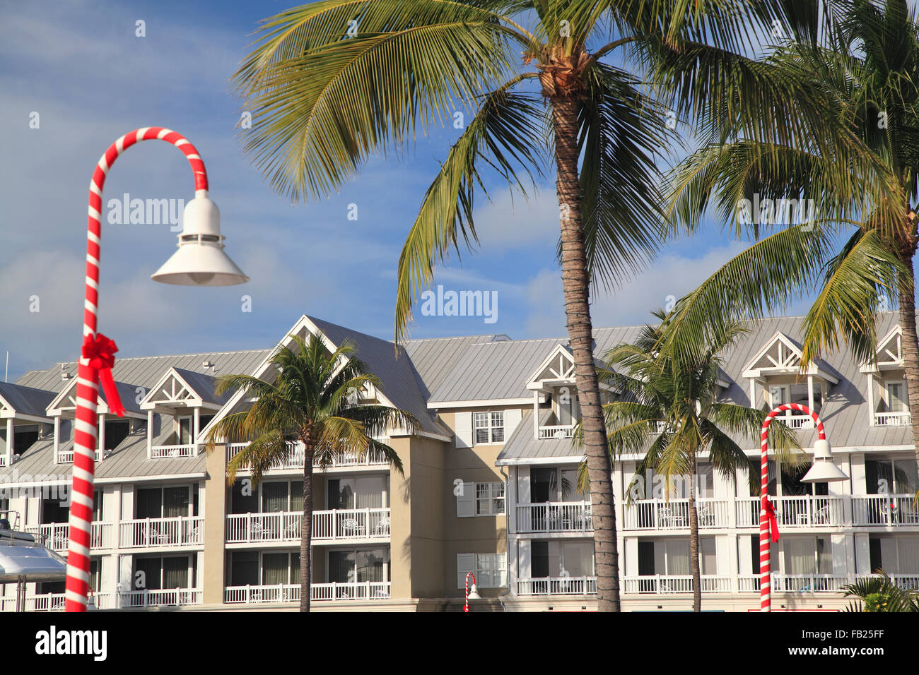 Luxurious hotel in Key West, Christmas time, Florida, USA Stock ...