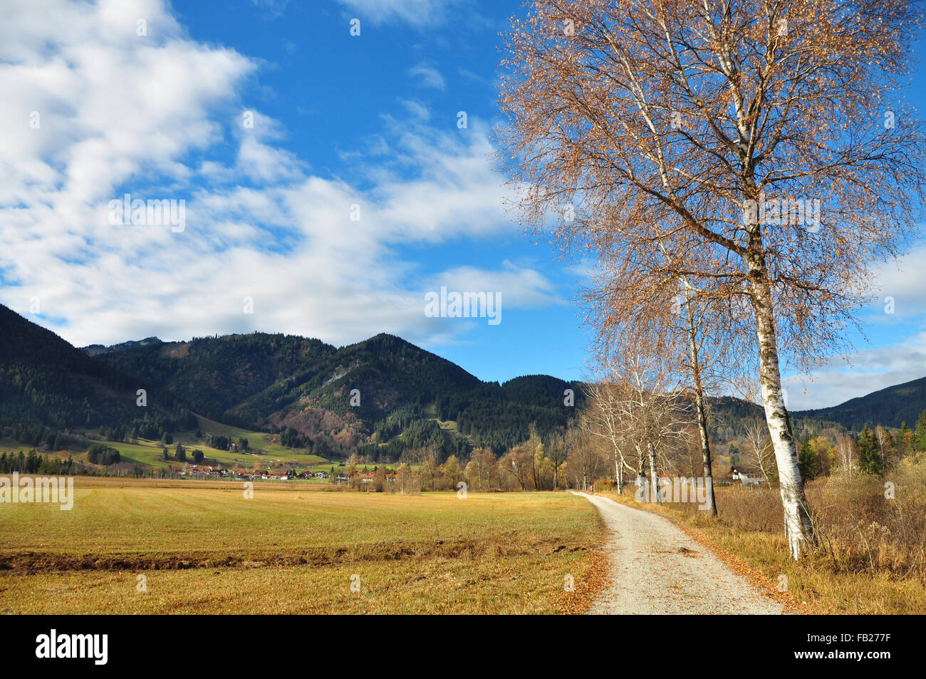 Stunning landscape in Oberammergau, Upper Bavaria, Germany - Stock Image
