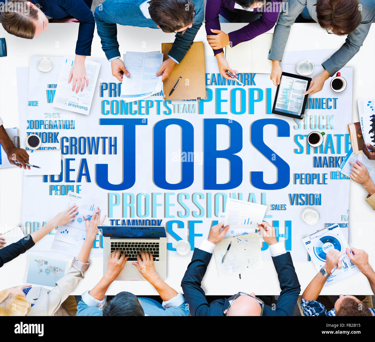 Jobs Occupation Careers Recruitment Employment Concept - Stock Image