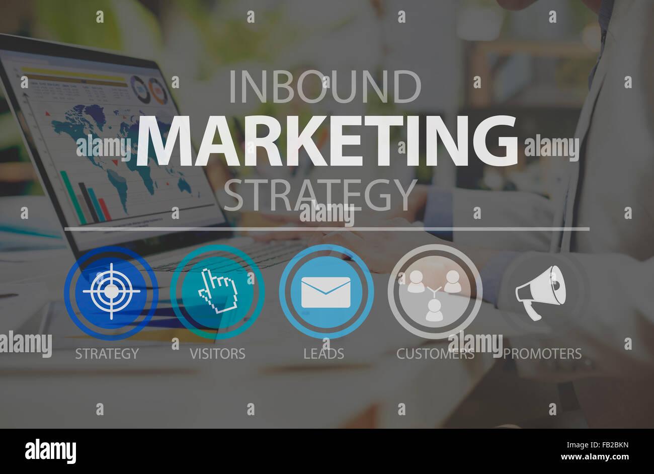 Inbound Marketingn Marketing Strategy Commerce Online Concept - Stock Image
